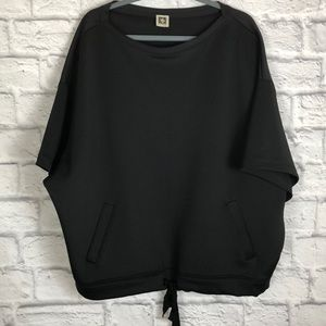 Anne Klein oversized short sleeve sweatshirt